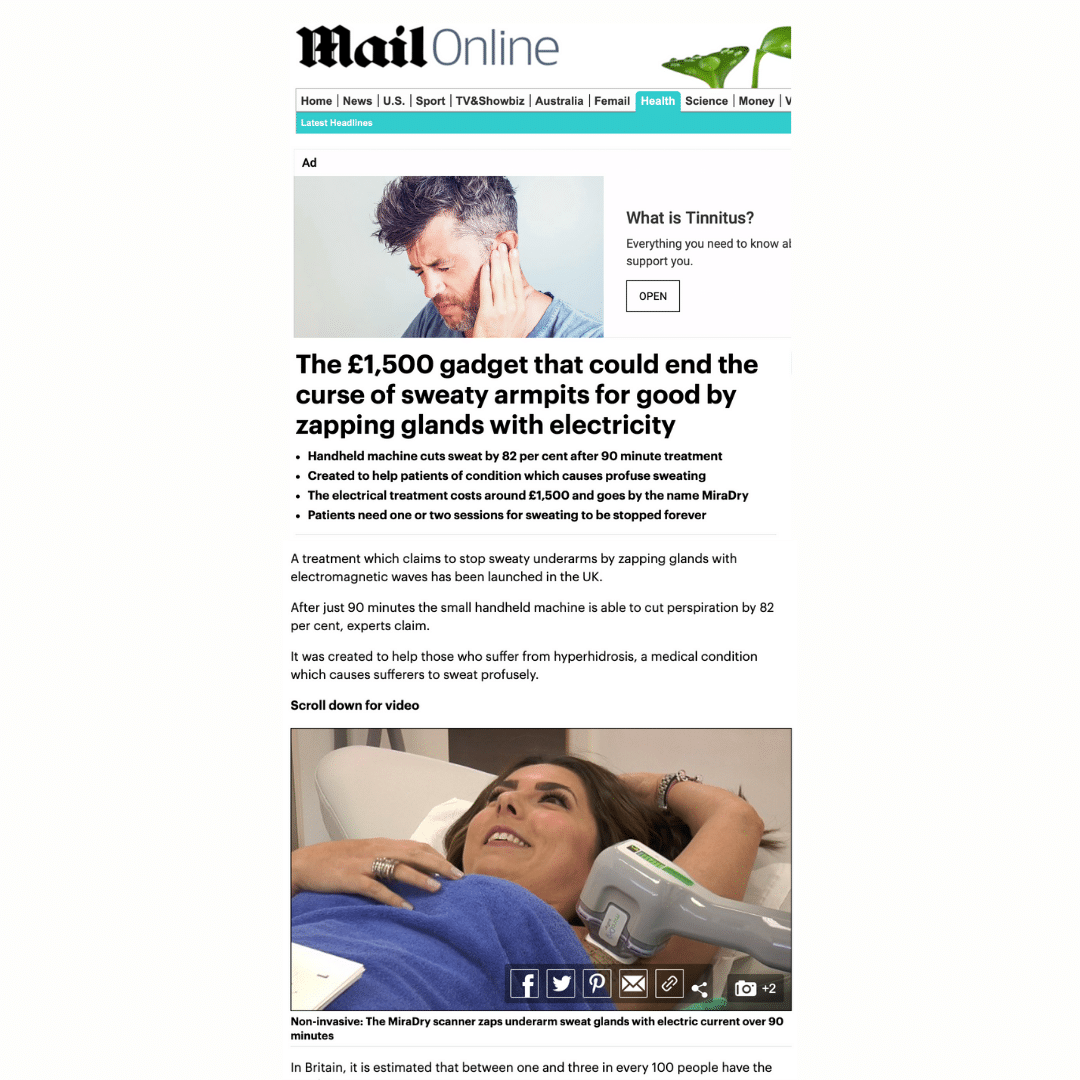 Mail Online Article on mirDry